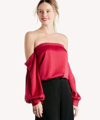Sole Society Off Shoulder Voluminous Sleeve Blouse