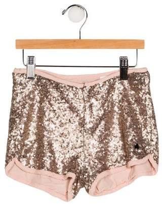 Ikks Girls' Sequin Mini Shorts