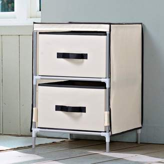 BEIGE Homestar 2 - Drawer Fabric Dresser in with Black Accents