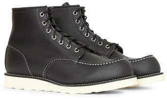 Red Wing Shoes 6-Inch Classic Moc Toe Leather Black