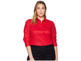 Lauren Ralph Lauren Plus Size No-Iron Button Down Shirt