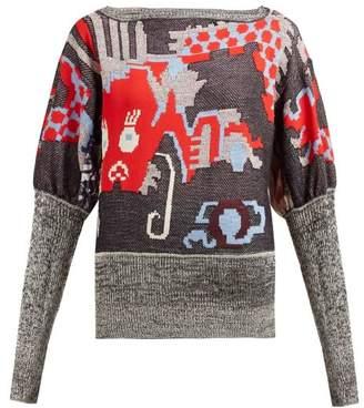 Vivienne Westwood Dragon Jacquard Sweater - Womens - Black Multi