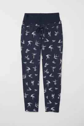 H&M MAMA Wide-leg Pants - Blue