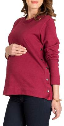 Nom Maternity Olivia Snap Side Maternity Sweater