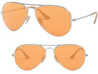Ray-Ban Evolve 55mm Photochromic Aviator Sunglasses