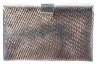 Monica Rich Kosann Embossed Metal Box Clutch