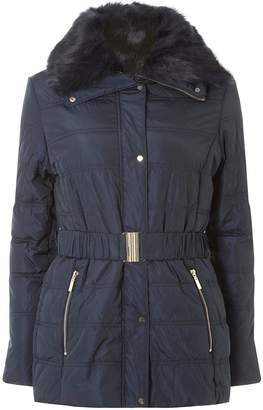 Dorothy Perkins Womens Navy Short Luxe Padded Coat