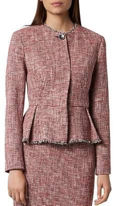 LK Bennett L.K.Bennett Cesilia Tweed Pleated Peplum Jacket