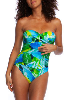 La Blanca Plus Size Tropic Of The Day Bandeau One-Piece