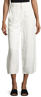 Vince High-Waist Cropped Wide-Leg Pants $285 thestylecure.com