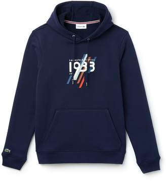 Lacoste Men's Hooded 1933 Lettering Cotton Fleece Sweatshirt