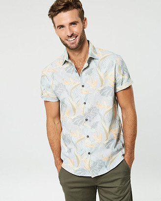Le Château Bird of Paradise Print Cotton Shirt