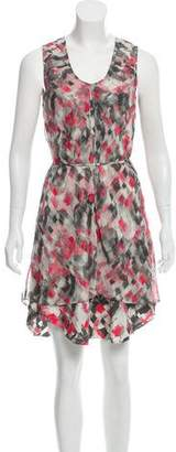 Poleci Silk Printed Dress