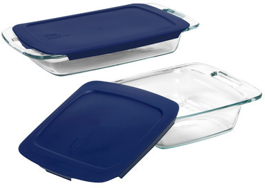 Pyrex Easy Grab 4 Piece Bakeware Set with Plastic Cover