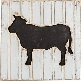 Gracie Oaks Chalkboard Cow Wood Wall Dcor