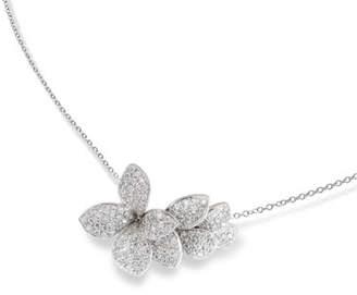 Pasquale Bruni Giardini Segreti 18k White Gold Short Diamond Pendant Necklace