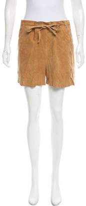 Maison Margiela Suede High-Rise Shorts