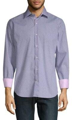 Tailorbyrd Barlett Printed Cotton Button-Down Shirt