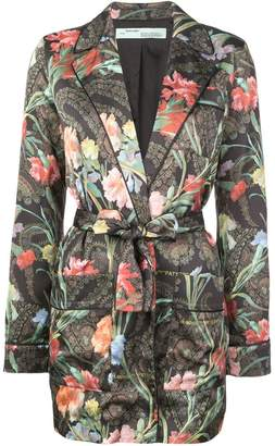 Off-White floral belted jacket