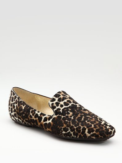 Jimmy Choo Leopard Haircalf Loafers