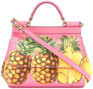 Dolce & Gabbana pineapple print Sicily shoulder bag