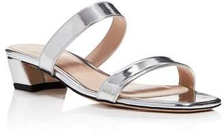 Stuart Weitzman Women's Ava Patent Leather Slide Sandals
