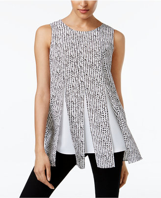 Alfani Prima Split-Overlay Layered-Look Top, Only at Macy's $59.50 thestylecure.com