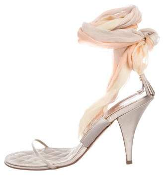 f12459164ceb Pre-Owned at TheRealReal · Chanel Satin Lace-Up Sandals