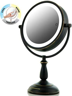 "Ovente 8.5"" Dual-Sided LED Lighted Makeup Mirror with Timer"