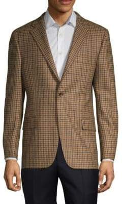 Hickey Freeman Milburn II Wool Cashmere Check Sport Coat