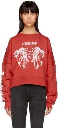 Marcelo Burlon County of Milan Red Cupido Tattoo Crewneck Sweatshirt