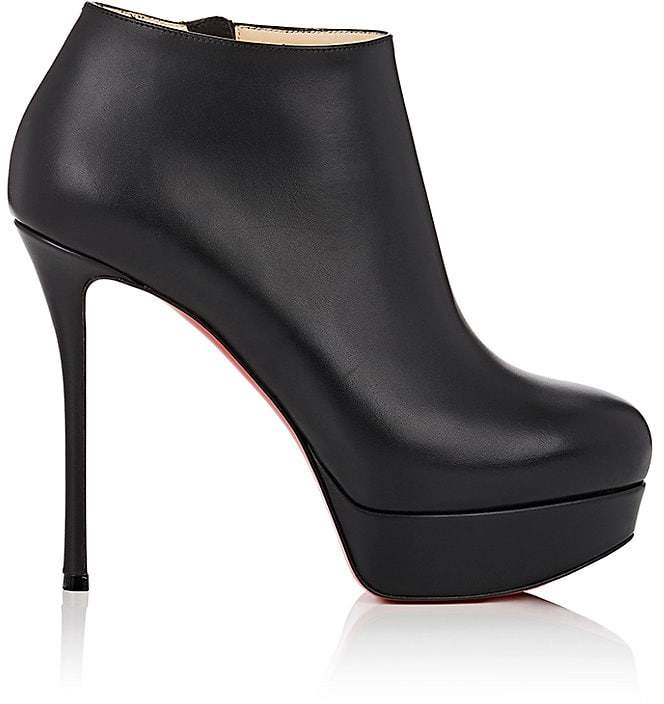 Christian Louboutin Women's Dirdibootie Leather Platform Ankle Booties