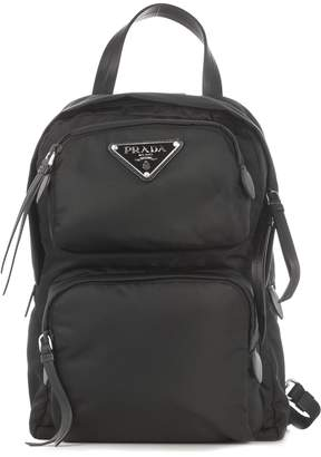 Prada One Strap Double Pocket Backpack