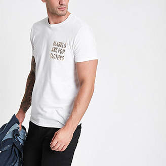 River Island White Ditch the Label T-shirt