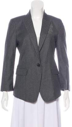 Band Of Outsiders Virgin Wool-Blend Pinstriped Blazer w/ Tags