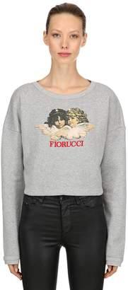 Fiorucci Vintage Angels Cropped Sweatshirt