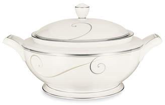 Noritake Dinnerware, Platinum Wave Covered Vegetable Bowl