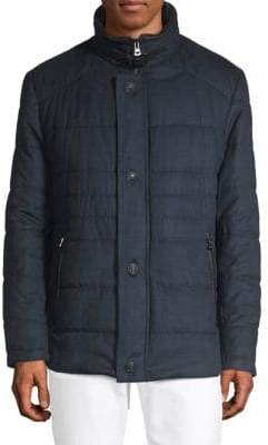 Bugatti Plaid Quilted Puffer Jacket