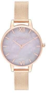 Olivia Burton Semi Precious Rose Goldtone Watch