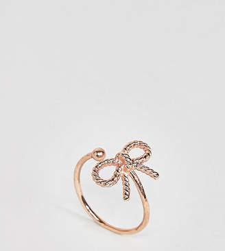 Olivia Burton 18k Rose Gold Plated Vintage Bow Adjustable Ring