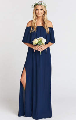 Show Me Your Mumu Hacienda Maxi Dress ~ Rich Navy Crisp