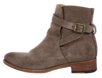 Anthology Paris Suede Buckle Ankle Boots