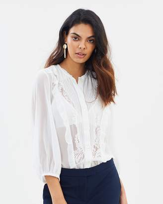 French Connection Amice Lace Top