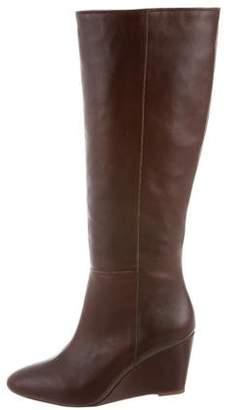 Loeffler Randall Leather Wedge Boots