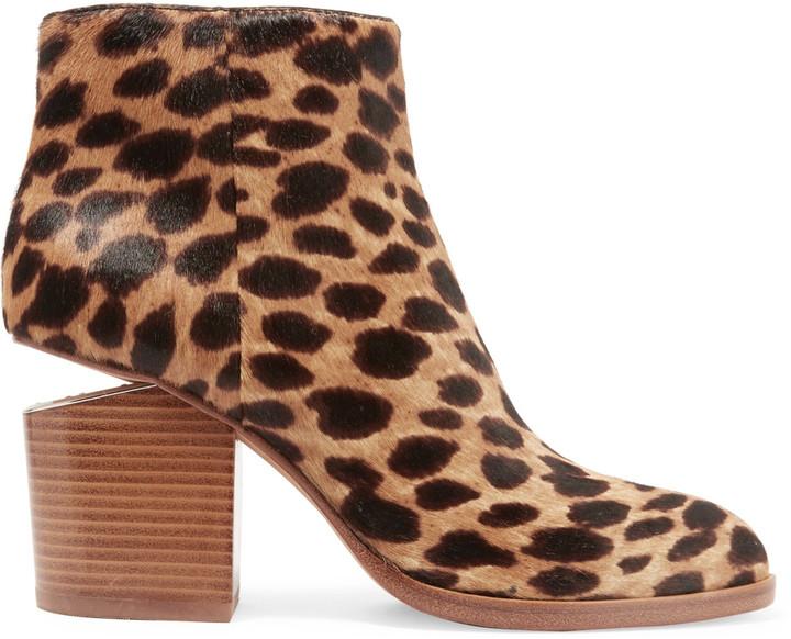 Alexander WangAlexander Wang Gabi cutout leopard-print calf hair ankle boots