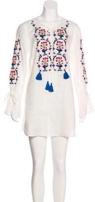 Tory Burch Embroidered Mini Dress