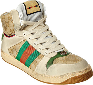Gucci Gg High-Top Leather Sneaker