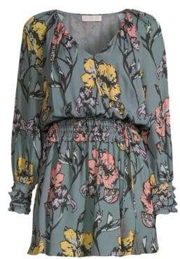 Ramy Brook Milene Silk Floral Mini Dress