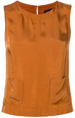 Roberto Collina patch pocket blouse