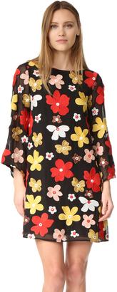 alice + olivia Eleonora Embroidered Flare Dress $495 thestylecure.com